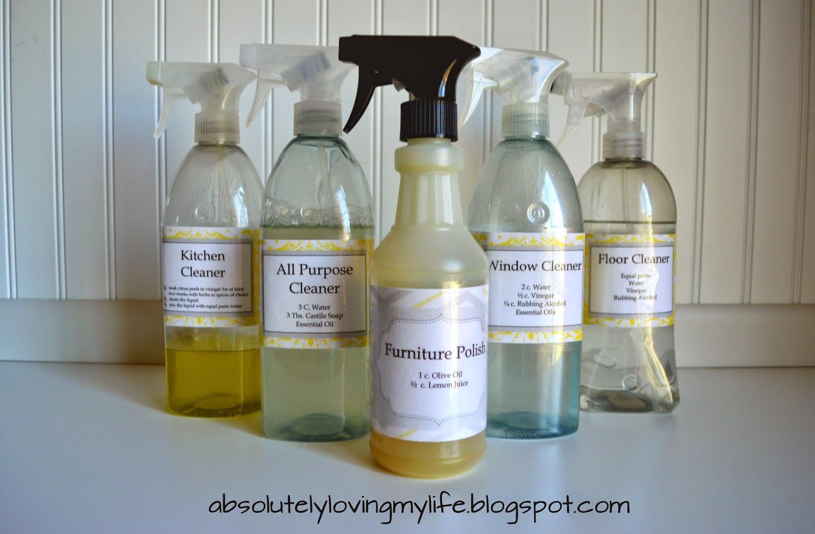 loving life diy spray bottle labels for homemade cleaners With homemade bottle labels