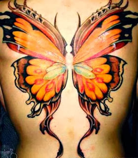 Tattoo de borboleta grande