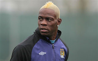Super Mario Balotelli and his blonde cockscomb