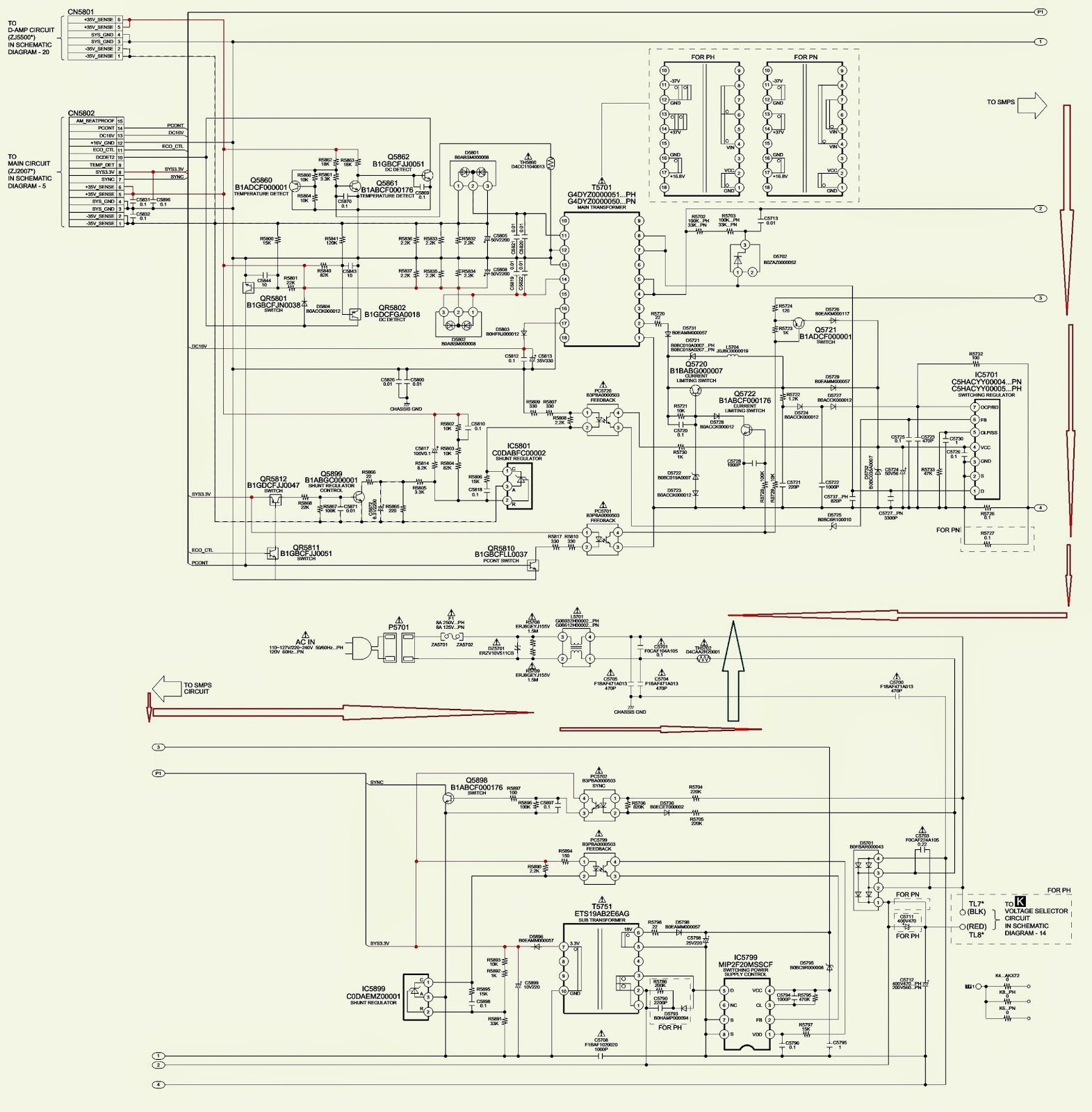 Panasonic Sc Akx72lb K Cd Stereo System Smps And Power Amplifier Circuit Diagram Of
