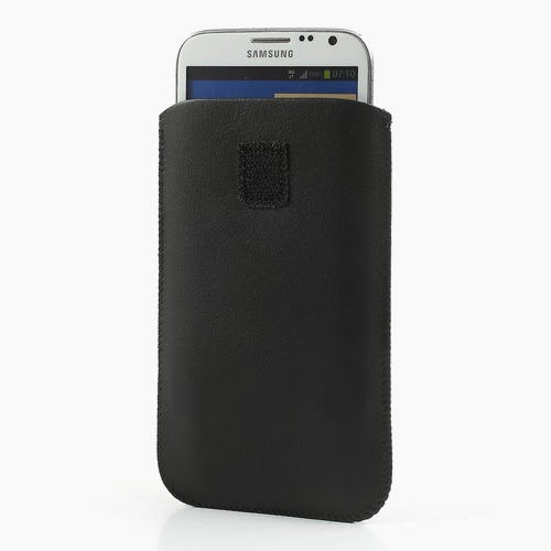 Universal 5 - 6 Inch Leather Pouch Case with Pull Tab for Samsung Galaxy Note 3 N9000 N7100, Size: 15.5 x 9cm - Black