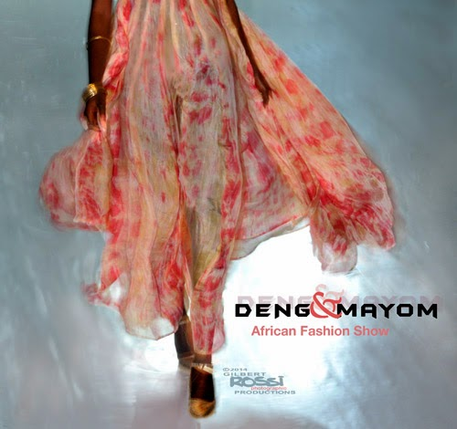 Fashion parade of African designs shot by Sydney fashion photographer Gilbert Rossi, silk gown, runway fashion