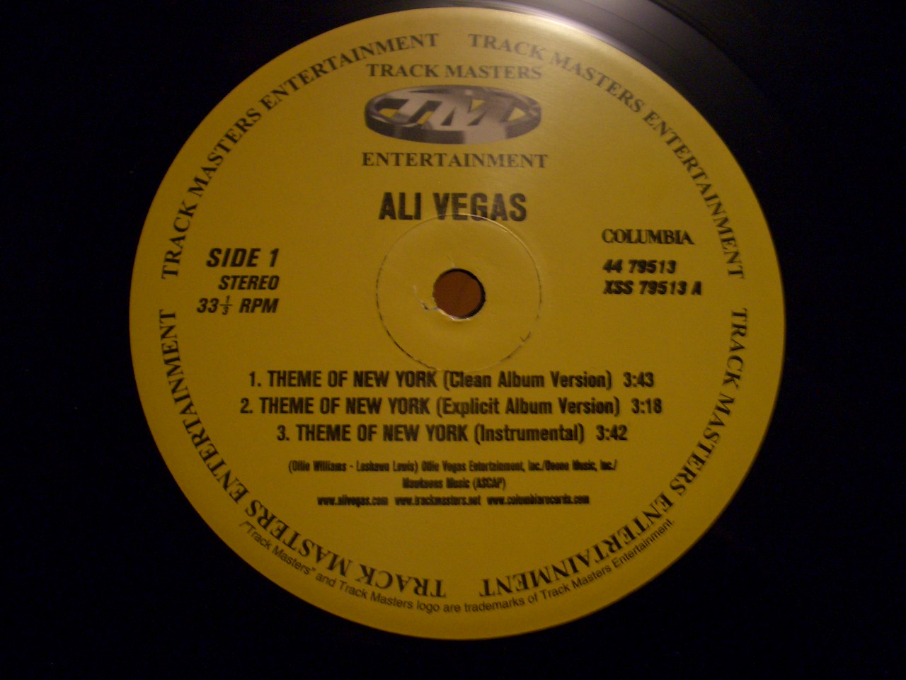 Ali Vegas – Theme Of New York / The Co Signing (VLS) (2000) (192 kbps)