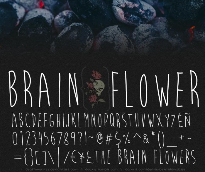 Download Font Handletter Tulisan Tangan Terbaik - Brain Flower Font