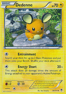 Dedenne Furious Fists Pokemon Card