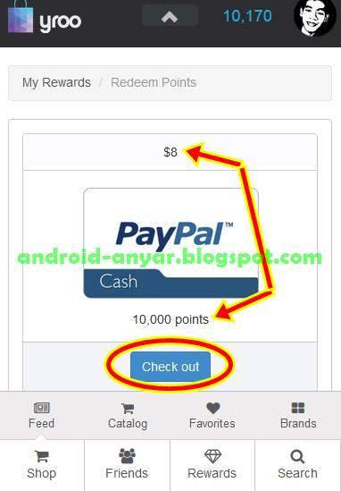 Cara Check out poin yroo menjadi uang dolar