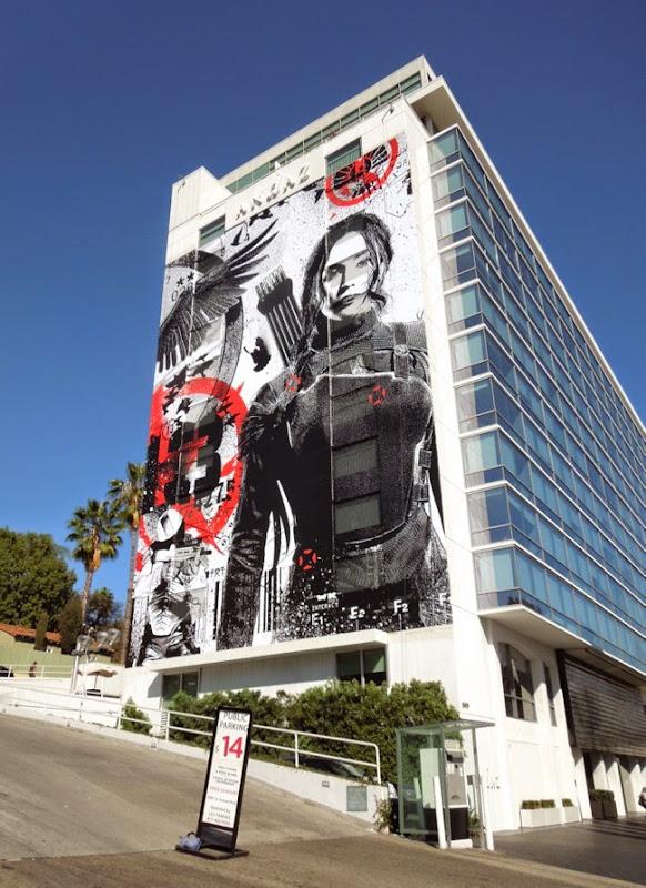Giant Katniss Hunger Games Mockingjay Part I billboard