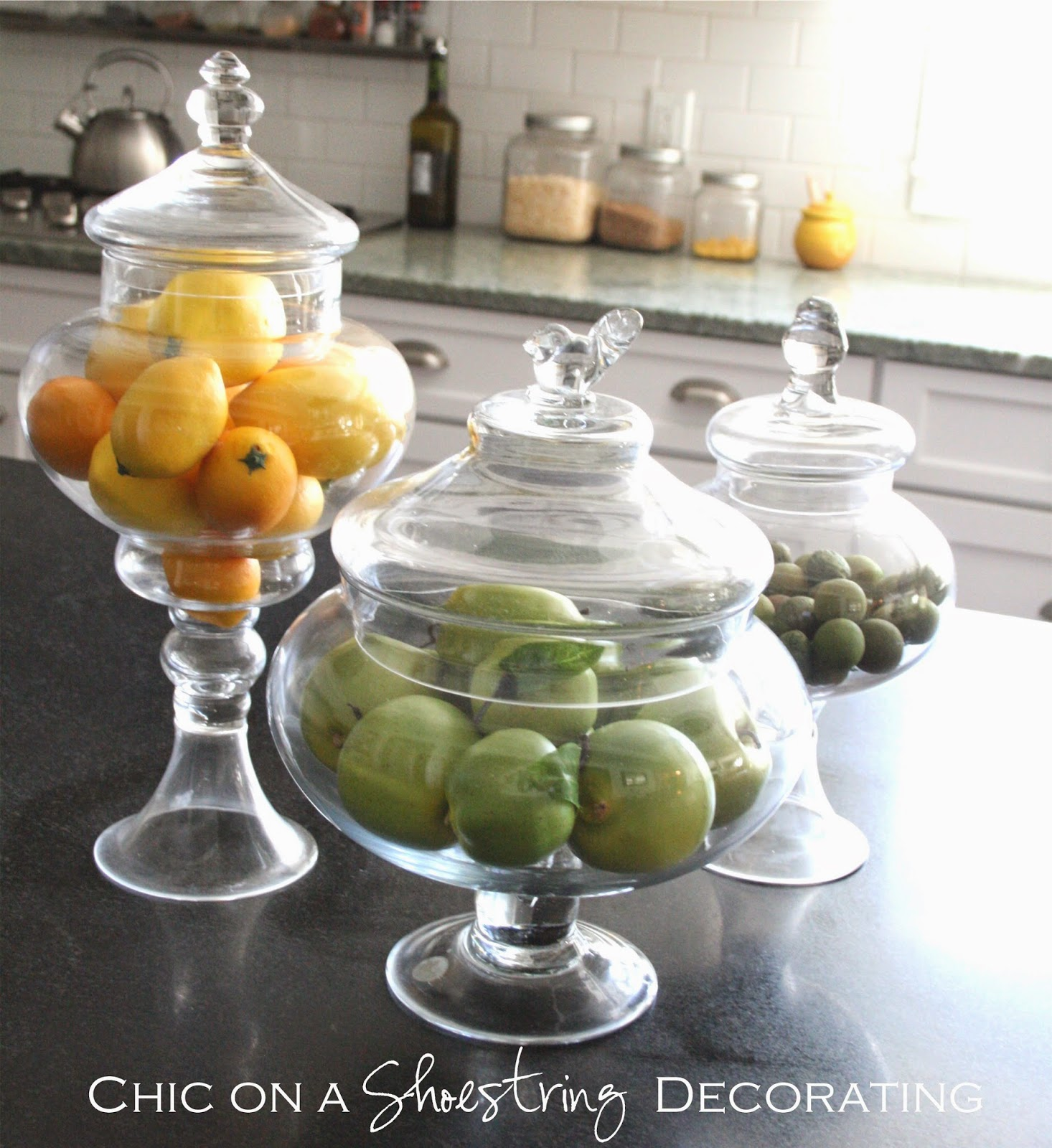 Kitchen Decor Jars: Chic On A Shoestring Decorating: Client Kitchen Remodel Reveal
