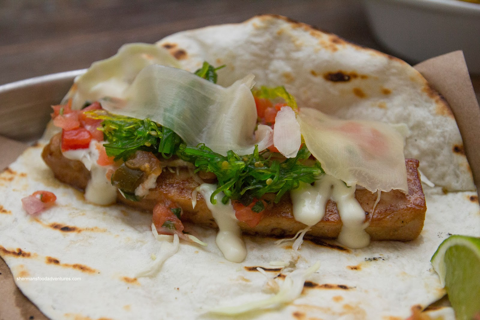 Sherman 39 s food adventures tacofino commissary for Tuna fish tacos