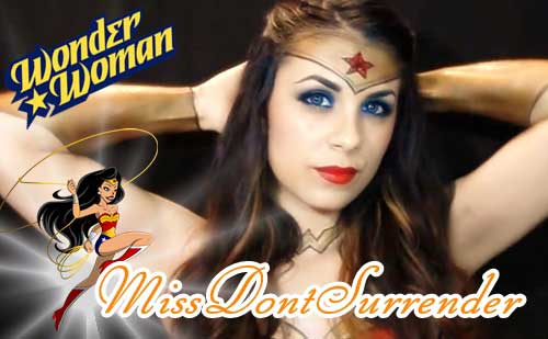 Maquillaje de Wonder Woman por Miss Dont Surrender