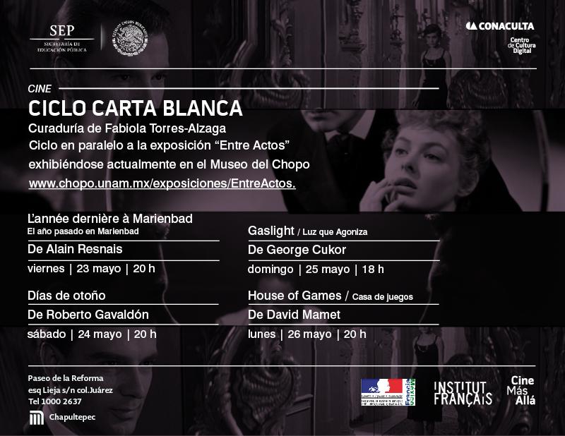 Ciclo de cine Carta Blanca con curadores y artistas invitados @CCDmx