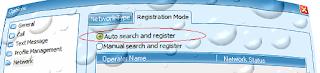 Registration mode