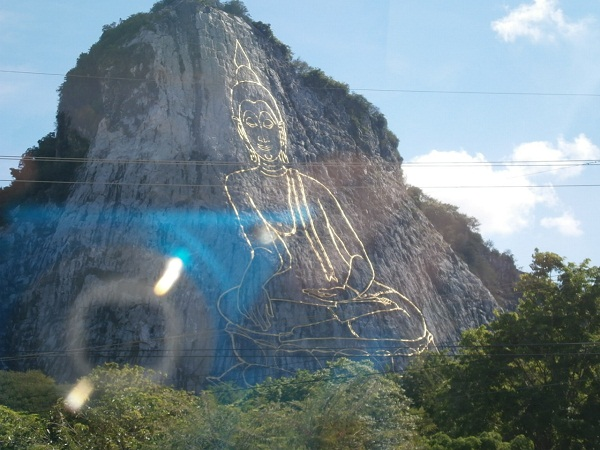 Laser Buddha in Thailand