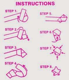 Lankah langkah membuat origami bintang