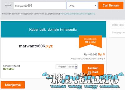 Cara Mendapatkan Domain XYZ Gratis
