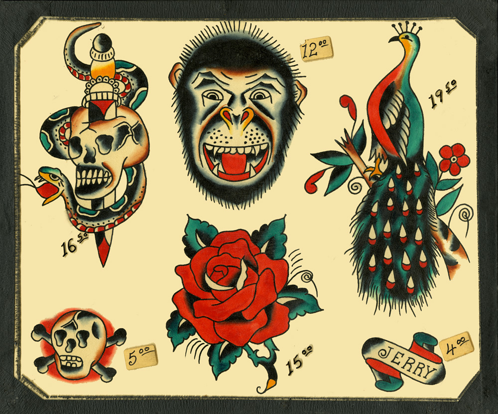 1963 Vintage Traditional Flash Tattoo