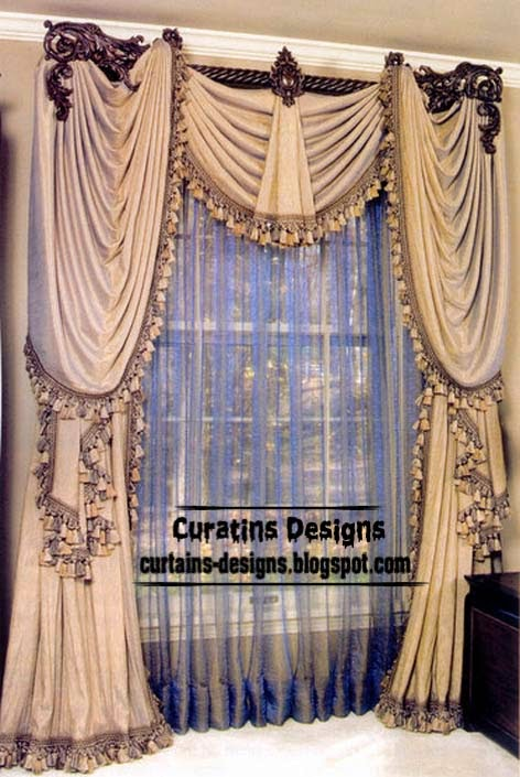 10 top luxury drapes curtain designs unique drapery styles for Different styles of drapes