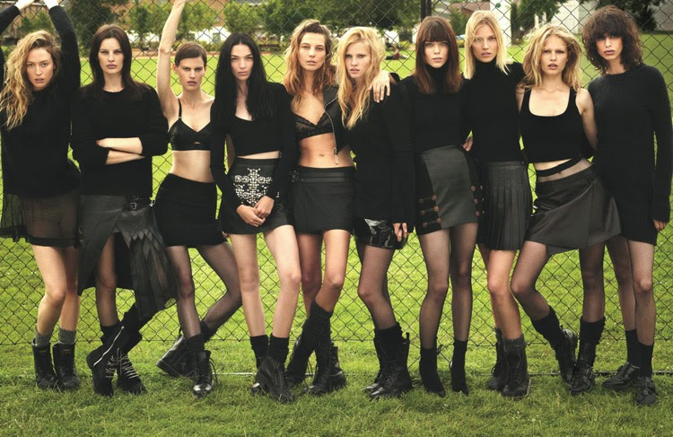 'Super Normal Super Models' W Magazine September 2014