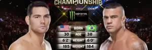 Vídeo da luta: Chris Weidman x Vitor Belfort