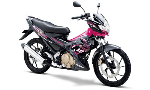 Satria F Terbaru Hyper Pink - Titan Black