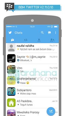 Preview BBM Twitter V2.11.0.18