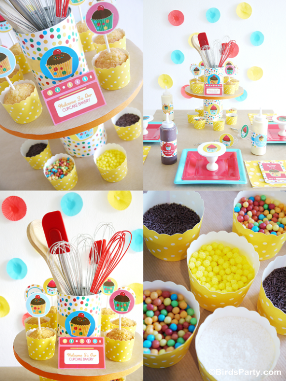 Kids Birthday Party Ideas: How to Style a Baking Party for Boys or Girls Printables Invitations