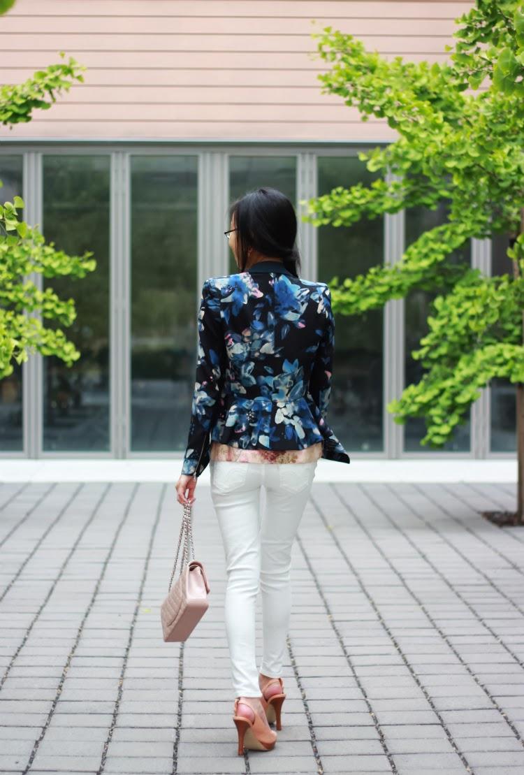 navy floral rebecca taylor blazer printed blush lace white denim