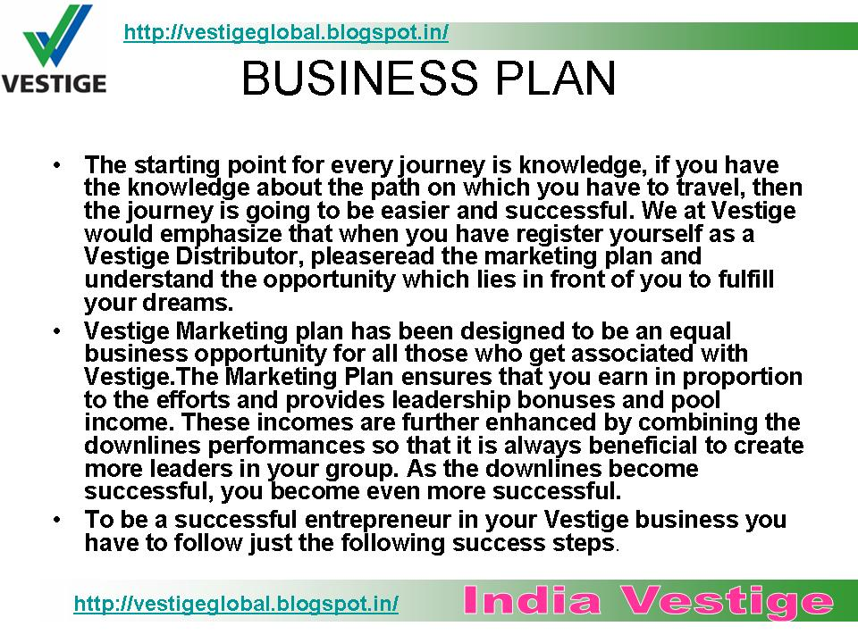 Www my vestige business plan