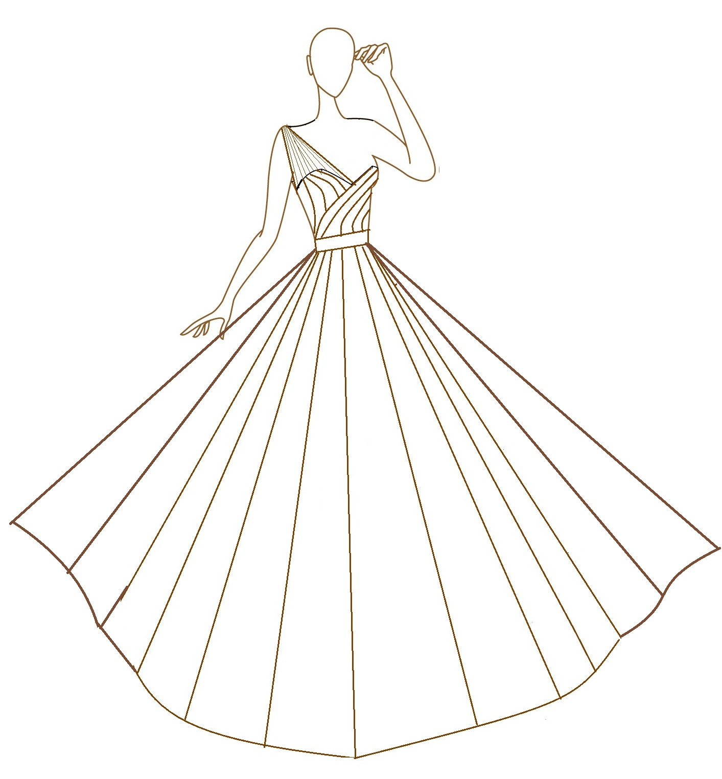 Ball Gown Wedding Dress Sketches | Fashion Wallpaper