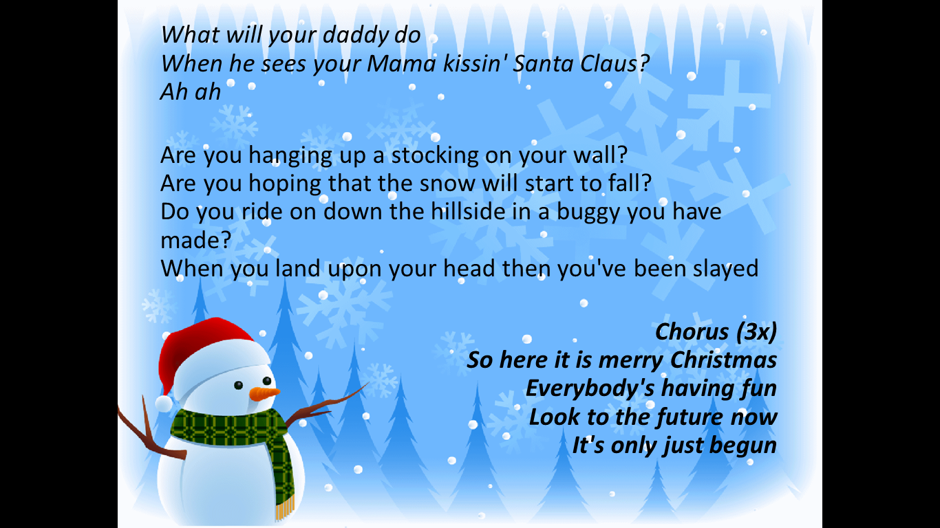 Merry Christmas Song Lyrics 4 Christmas Song 'merry