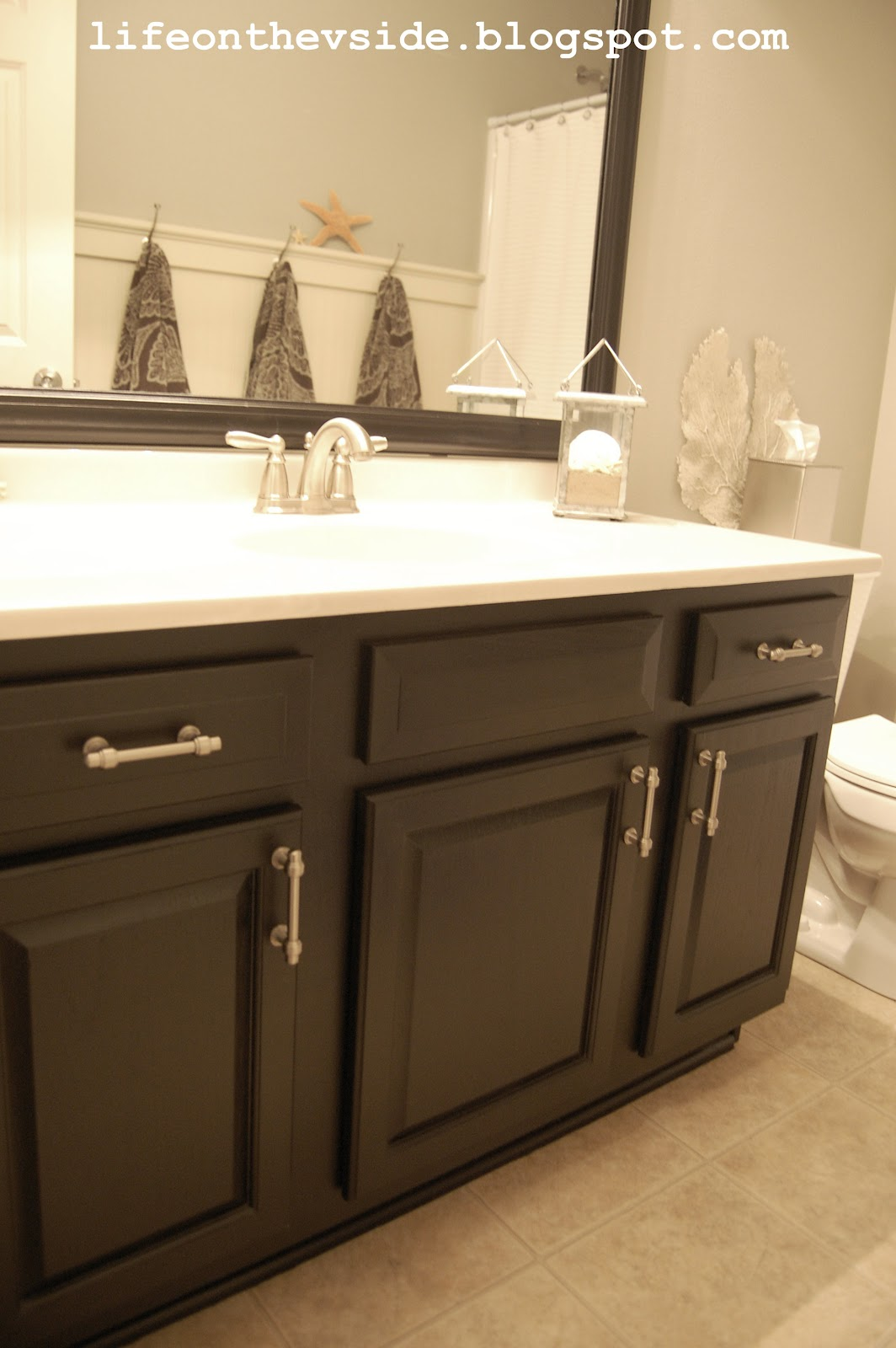 On the v side bathroom redo breakdown - How to redo bathroom cabinets for cheap ...