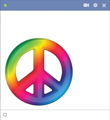 Peace Sign Facebook Emoticon