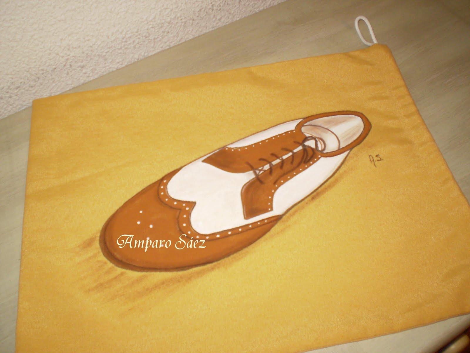 Artesania y pintura decorativa bolsas para zapatos - Baldas para zapatos ...
