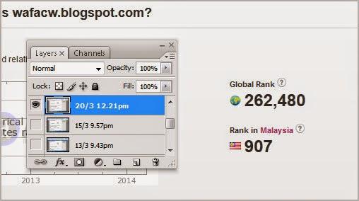 Ranking Alexa myBlog Wafacw di bawah 1000