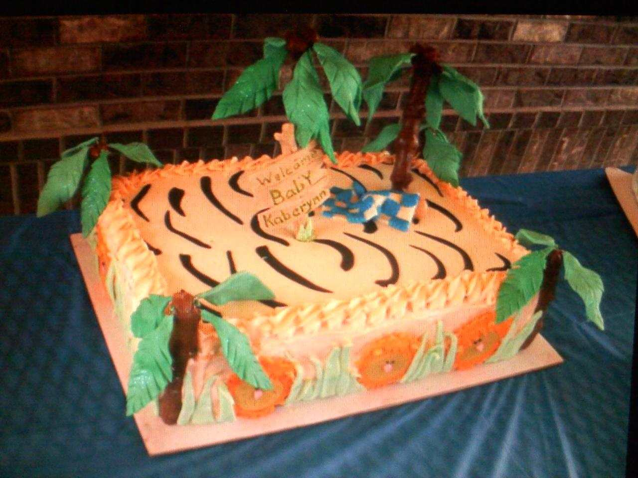 Pinky Promise Cakes Safari Baby Shower Cake