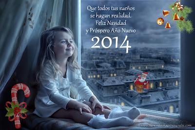 Imágenes navideñas con mensajes de Feliz Navidad y Próspero Año Nuevo 2014 para compartir