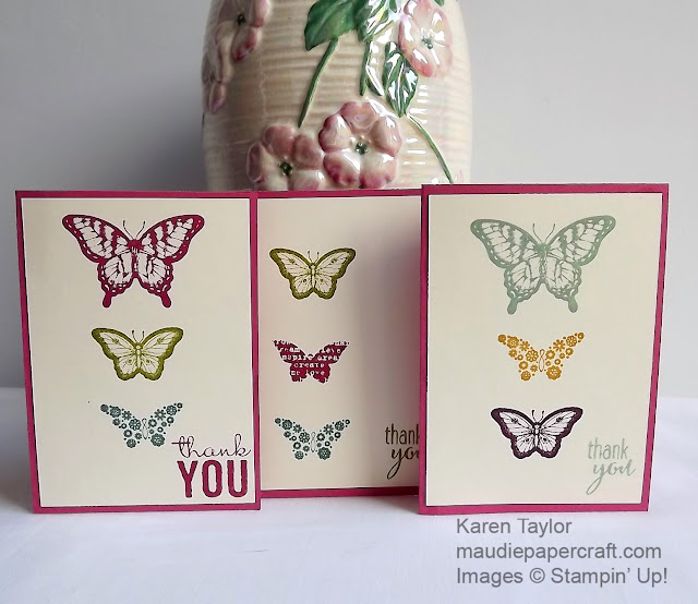 Stampin' Up! Thank You cards Papillon Potpourri