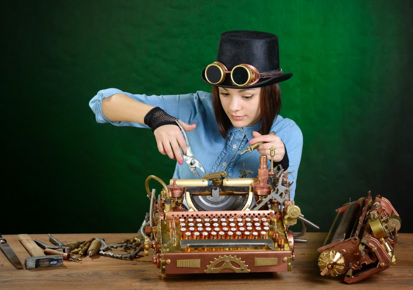 Woman so frustrated with qwerty that she's reconfiguring the typewriter as a Dvorak keyboard
