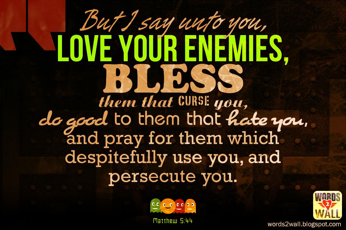 love your enemies free bible desktop verse wallpaper