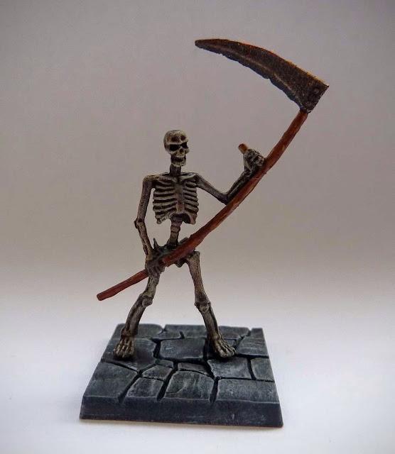 Dungeon Saga: Dwarf King's Quest painted evil dead: skeleton warrior.