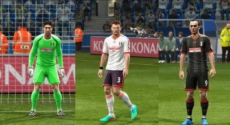 PES 2013 Fulham 14-15 Kits by Predator