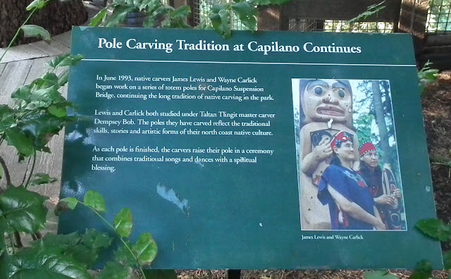 Pole Carving Tradition at Capilano Continues plaque