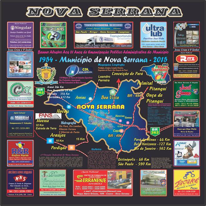 Banner Alusivo Aos 61 Anos de Emancipação do Município de Nova Serrana