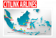 Citilink routes map. Citilink Airlines logo. IATA code : GA ICAO code : GIA (citilink airlines routes map)