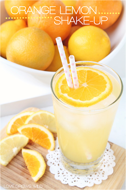 Orange Lemon Shake-up - a refreshing new twist on a classic Summer drink! via LoveGrowsWild.com #beverages #orange