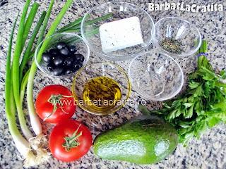 Salata cu avocado ingrediente reteta