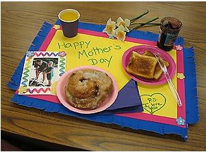 mantel decorado alusivo dia de las madre