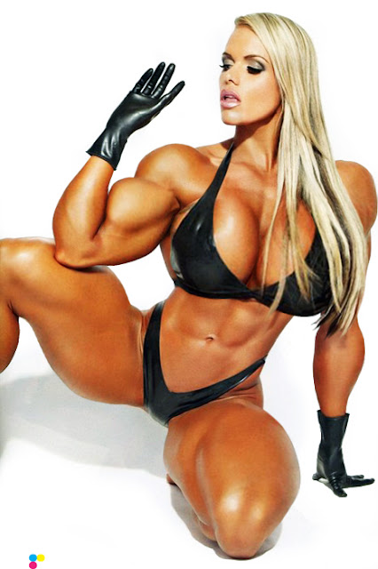 female muscle &amp; breast expansion morph
