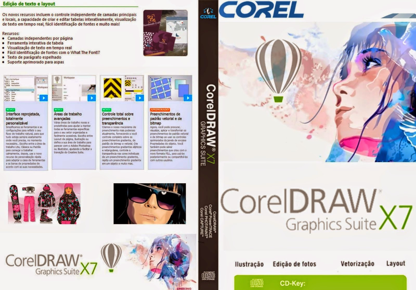 Corel DRAW Graphics Suite X7   Capa PC Software