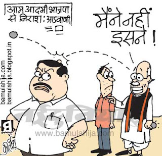 nitin gadkari cartoon, bjp cartoon,lal krishna advani cartoon, indian political cartoon